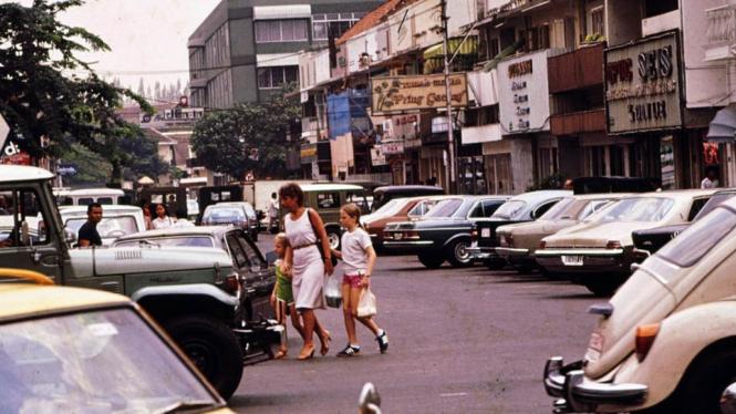 Kawasan Melawai Blok M pada tahun 80an