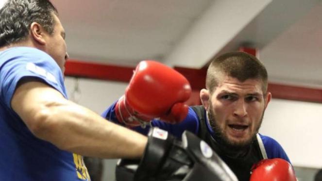 Juara dunia Ultimate Fighting Championship (UFC), Khabib Nurmagomedov