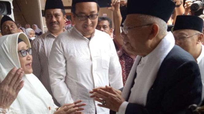 Maruf Amin mengunjungi Pondok Pesantren Krapyak, Kecamatan Sewon, Bantul.