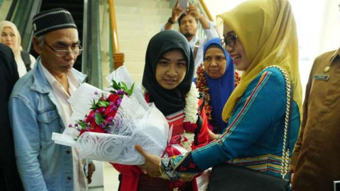Miftahul Jannah setiba di Aceh.