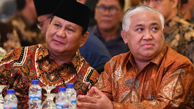 Din Syamsuddin saat Bersama Prabowo Subianto.