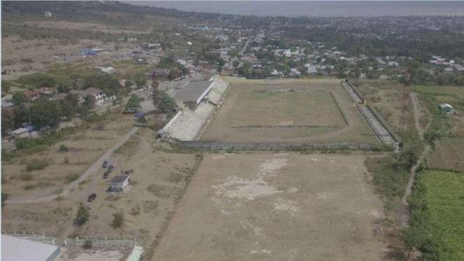 Lahan kandidat yang akan dibangun hunian sementara bagi korban gempa dan tsunami di Sulawesi Tengah.