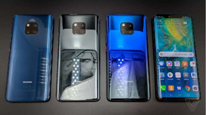 4 Varian Huawei Mate 20 yang baru saja diluncurkan.