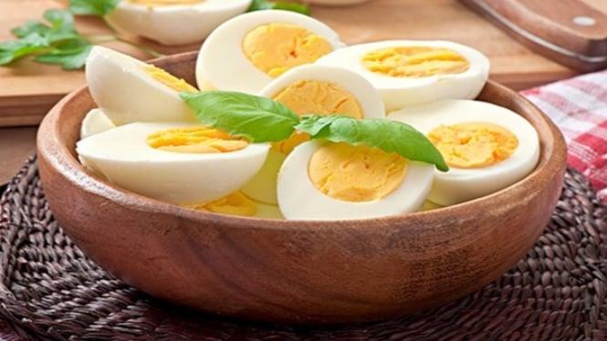 Manfaat telur rebus.