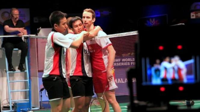 Duel ganda putra, Mohammad Ahsan/Hendra Setiawan vs Mathias Boe/Carsten Mogensen