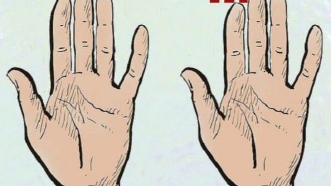 Arti beda panjang jari di tangan.