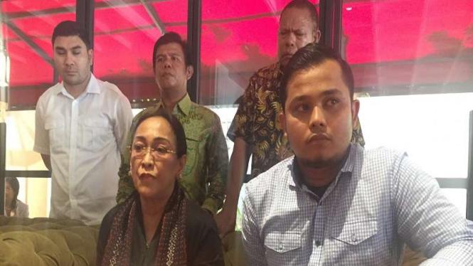 Sukmawati Soekarnoputri saat jumpa pers di Bandung, Jawa Barat