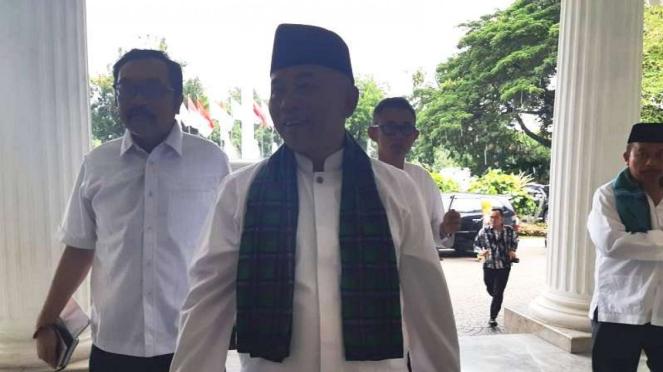 Wali Kota Bekasi Rahmat Effendi mendatangi Balai Kota DKI Jakarta, Senin siang