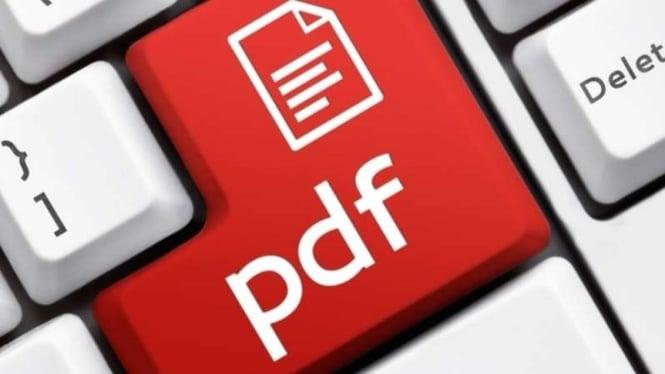 Portable Document Format atau PDF.