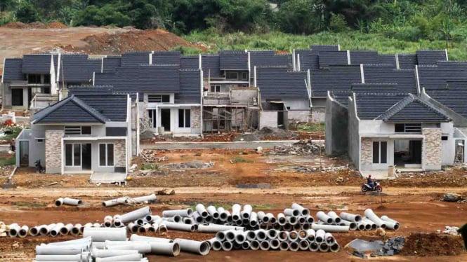 Aktivitas pembangunan perumahan di  Bogor, Jawa Barat