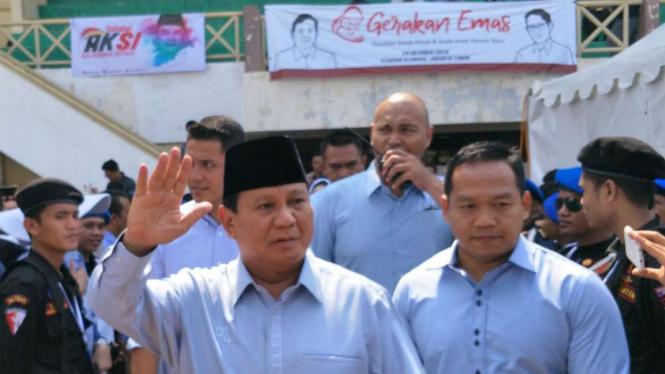 Prabowo Subianto calon presiden nomor urut 02.
