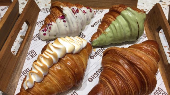 Aneka croissant di Joe & Dough.