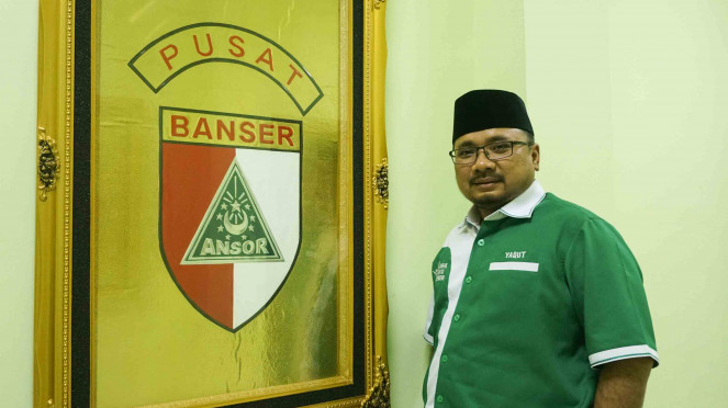 Ketua Umum PP GP Ansor, Yaqut Cholil Qoumas