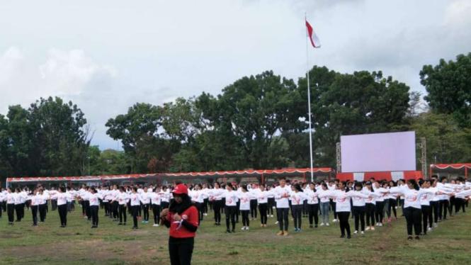 1.000 Siswa SMAN 1 Manado di PKN Revolusi Mental.