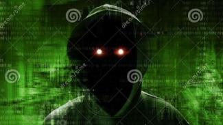 Ilustrasi hacker.