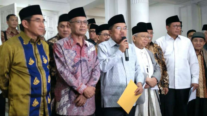 Ormas Islam besar berkumpul di rumah dinas Jusuf Kalla.