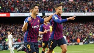 Pemain Barcelona, Luis Suarez dan Philippe Coutinho