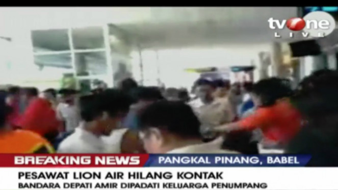 Suasana di Bandara Depati Amir usai pesawat Lion Air hilang kontak