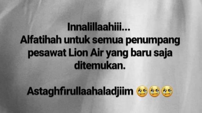 Ucapan duka dari Rossa atas jatuhnya pesawat Lion Air