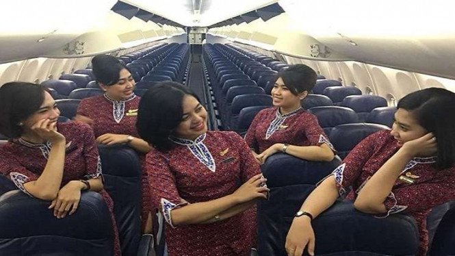 Foto pramugari Lion Air, salah satunya Alfiani Solikah