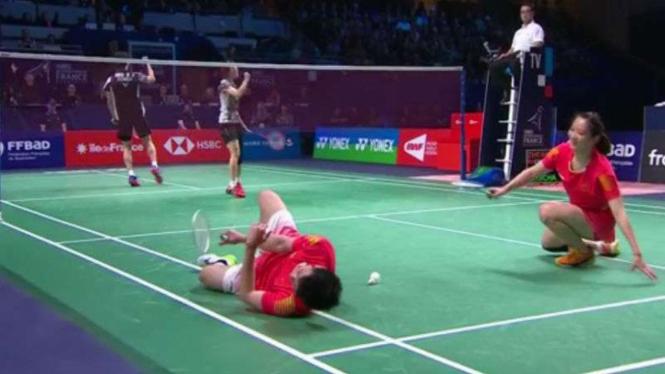 Zheng Siwei/Huang Yaqiong melawan Seo Seung Jae/Chae YuJung di final Prancis.