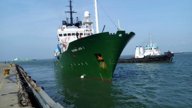 Kapal riset Baruna Jaya milik BPPT