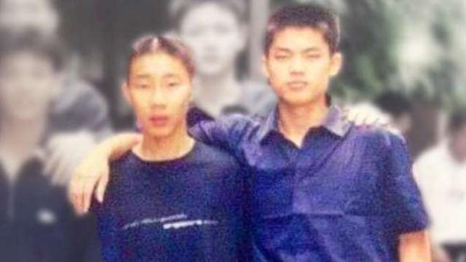 Tampang masa kecil pebulutangkis Lee Chong Wei dan Lin Dan