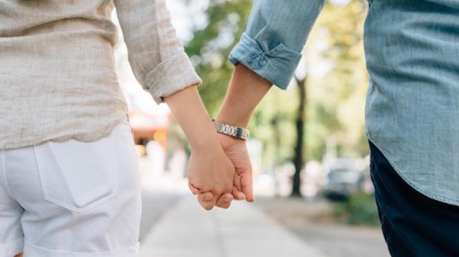 Ilustrasi pasangan muda.