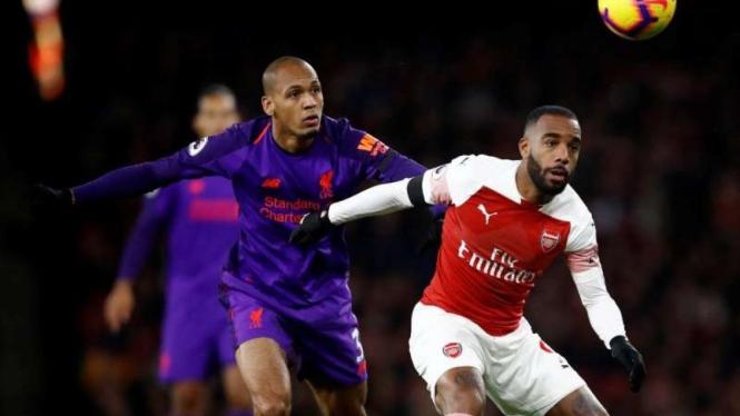 Pertandingan Premier League antara Arsenal kontra Liverpool