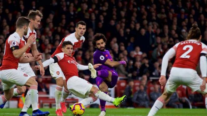 Ilustrasi pertandingan Arsenal vs Liverpool