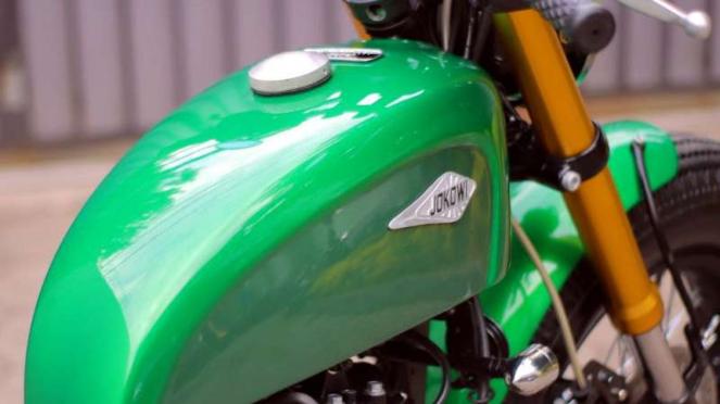 Motor custom Kawasaki W175 milik Presiden Jokowi