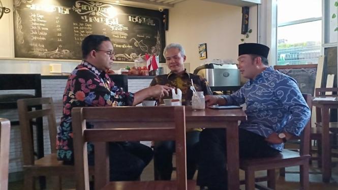 Anies Ajak Ridwan Kamil dan Ganjar Pranowo Ngopi Sore di Balai Kota