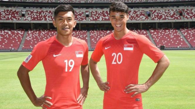 Striker SIngapura, Khairul Amri (kiri) dan Ikhsan Fandi