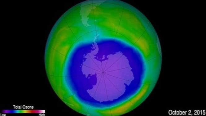 Ilustrasi lapisan ozon.