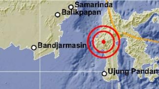 Ilustrasi gempa Sulawesi.