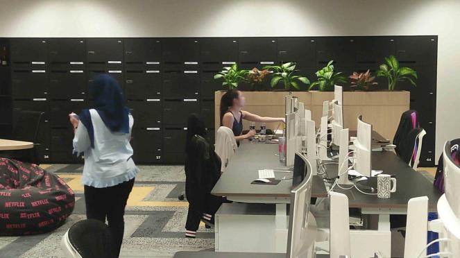 Nuansa kantor Netflix di Singapura