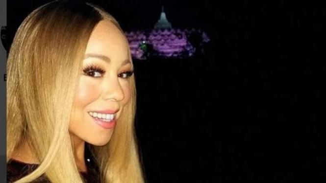 Mariah Carey perlihatkan indahnya Borobudur.