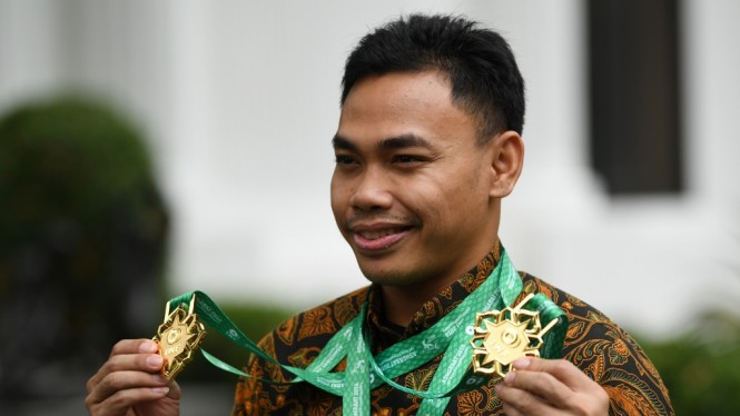 Lifter Eko Yuli Irawan Bertemu Presiden Jokowi