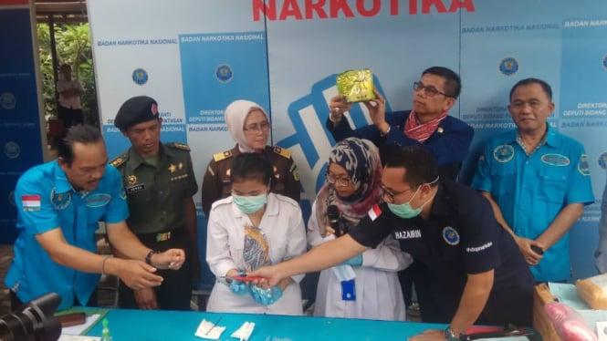 BNN Musnahkan 57 Kg Sabu dan 66 Ribu ekstasi