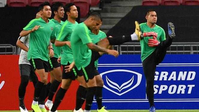Latihan Timnas Indonesia Jelang Piala AFF 2018