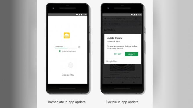 Pembaharuan update aplikasi di Android