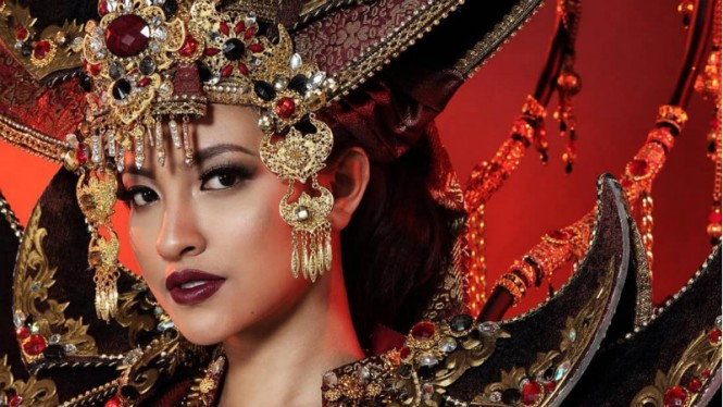 Vania Fitriyani Herlambang, wakil Indonesia di ajang Miss International.