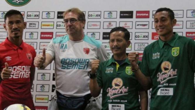 Konferensi pers jelang Persebaya Surabaya vs PSM Makassar