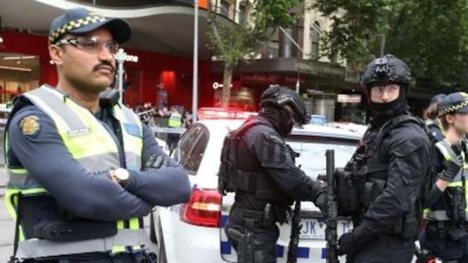 Polisi Australia bersiaga di pusat kota Melbourne
