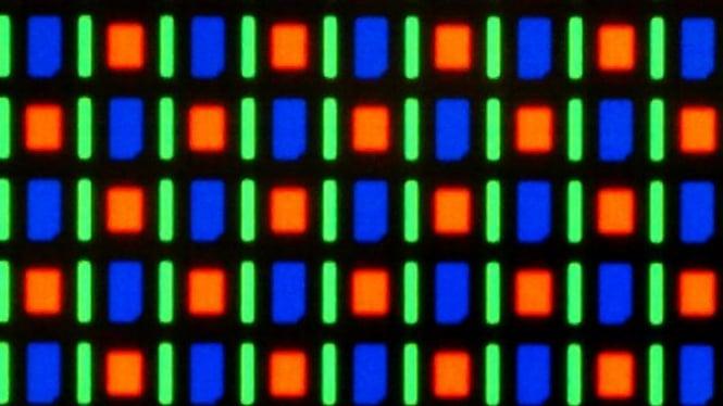 Ilustrasi warna layar