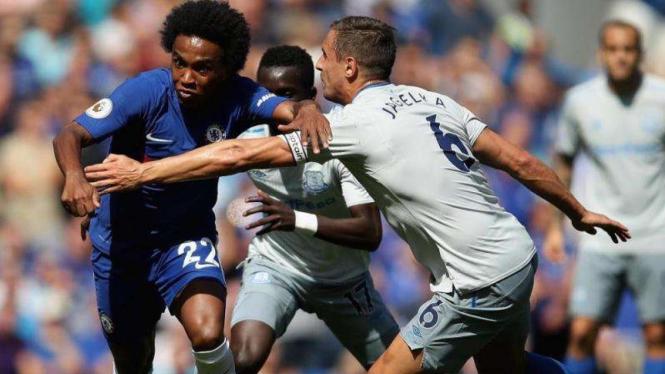 Pertandingan Chelsea kontra Everton di ajang Premier League 2018/2019