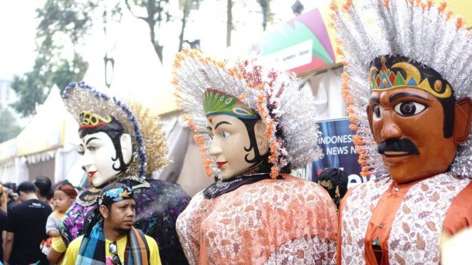 Ondel-ondel Betawi di Festival Pesona Lokal