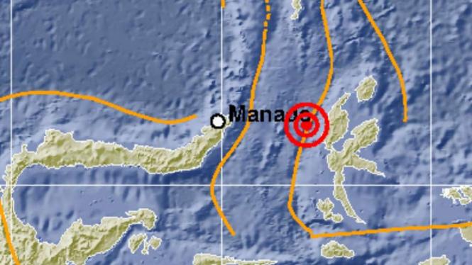 Gempa 5,5 SR Guncang Maluku Utara dan Manado.