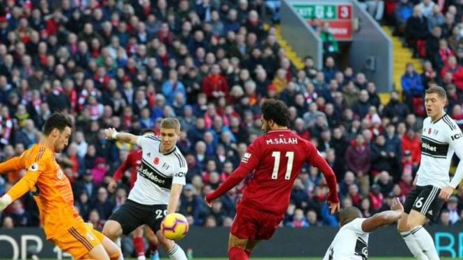 Gol Mohamed Salah Bawa Liverpool Sementara Ungguli Fulham