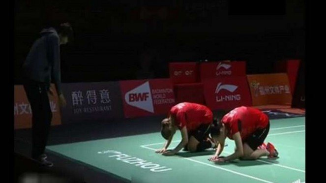 Lee So Hee/Shin Seung Chan usai juarai Fuzhou China Terbuka 2018.